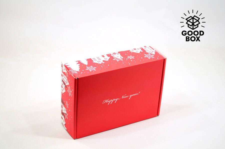 Красная Новогодняя подарочная коробка в Алматы