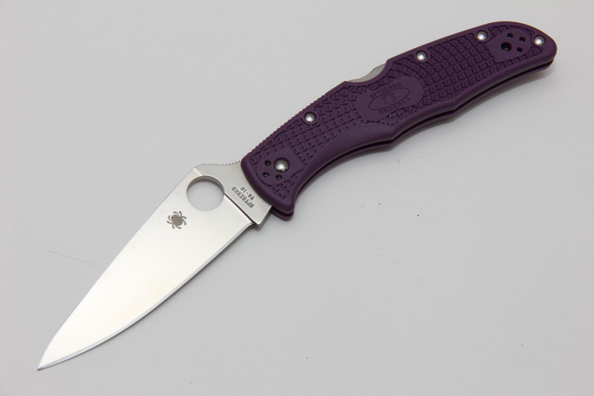 Нож Spyderco Endura 4 Purple SC10FPPR