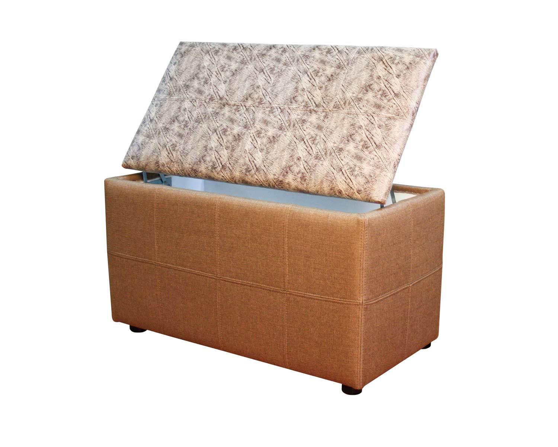 Пуф Квадрат-Х2 с ящиком, обивка ткань