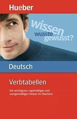 Verbtabellen Deutsch (Die wichtigsten regelmäßi...