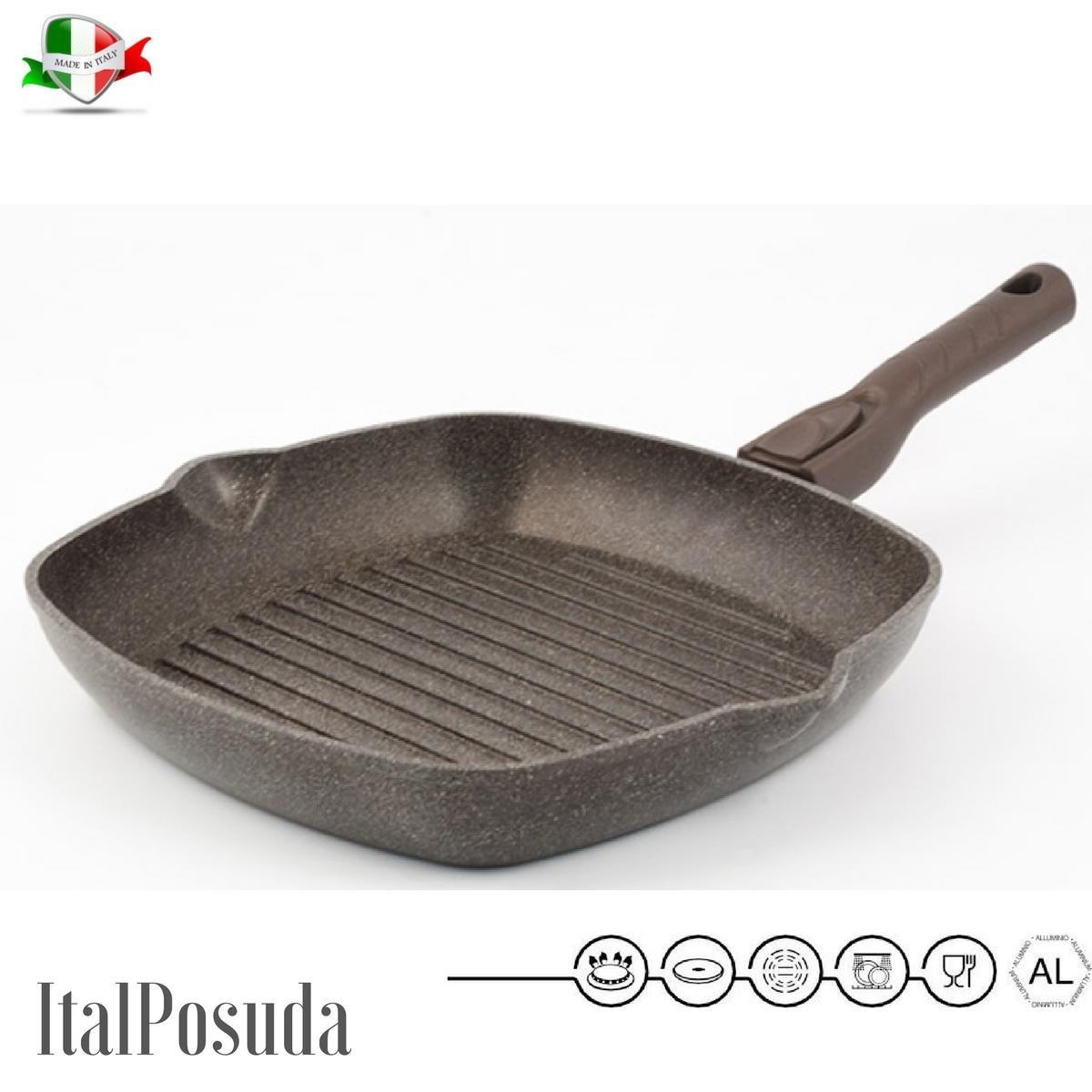 Сковорода гриль со съемной ручкой TIMA Мускат