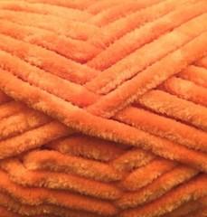 Пряжа Камтекс Велюр цвет 035 (оранжевый-апельсин)