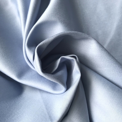 Ткань хлопок сатин с эластаном голубой 2097