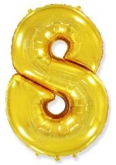 """Цифра """"8 золотая"""""""