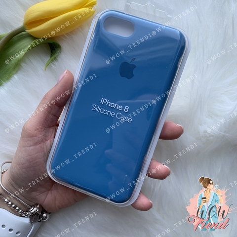 Чехол iPhone 7/8 Silicone Case /denim blue/ джинс original quality