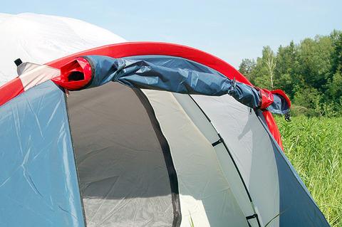 Палатка Canadian Camper KARIBU 4, цвет royal, вход.