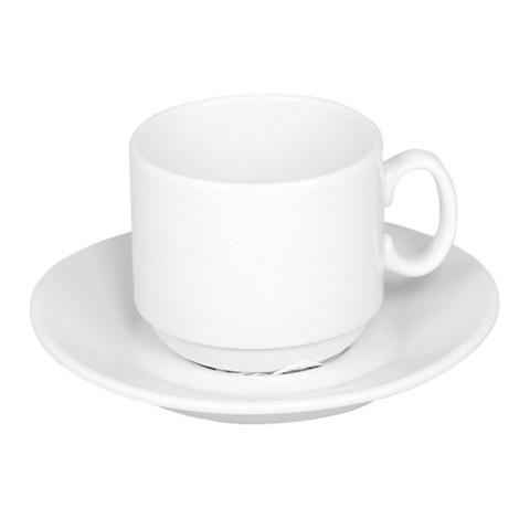 Кофейная пара Добруш Мокко фарфоровая белая чашка 100 мл/блюдце (артикул производителя 6С1627Ф34)