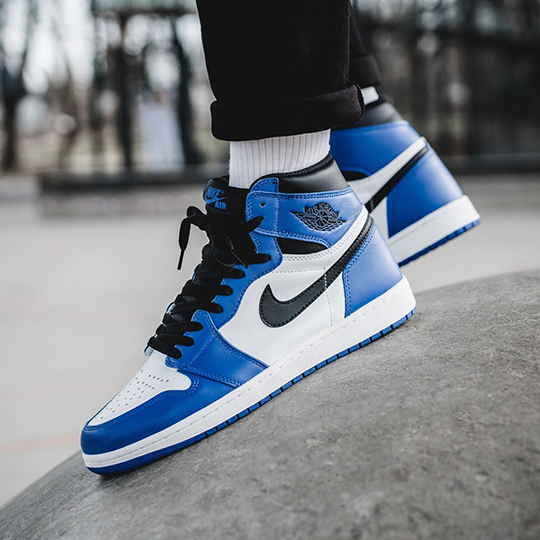 Nike Air Jordan 1 Retro White/Black/Blue