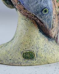 Скульптура из шамотной глины «Дева», 11х13х21 см, Falco Ceramic