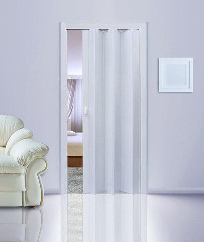 Дверь гармошка, белый