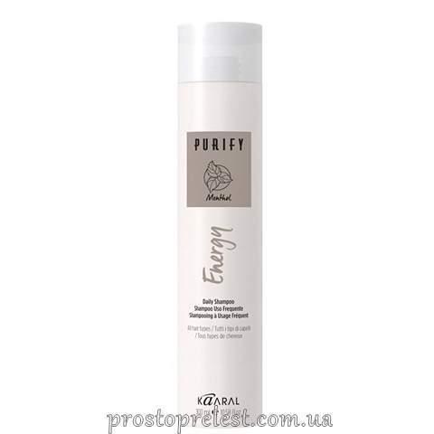 Kaaral Purify Energy Daily Shampoo - Енергетичний шампунь з екстрактом свіжої м'яти та ментолу