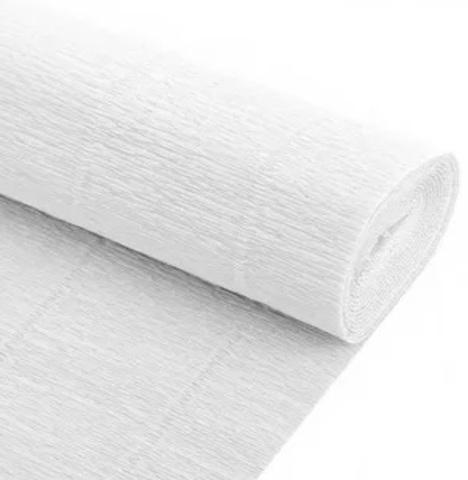 Гофрированная бумага однотонная. Цвет 600 белый , 180 г