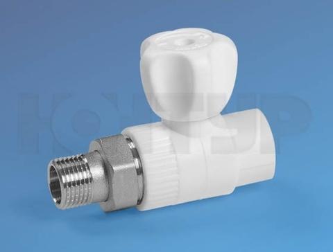 Кран радиаторный прямой PPR НР D20-1/2 - Контур