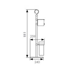 Стойка для ванной комнаты KAISER КН-4610 схема
