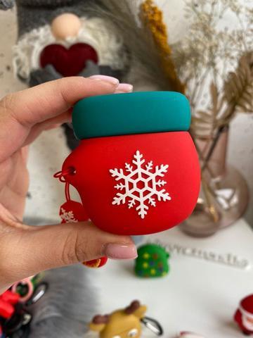 Чехол для AirPods toys /mitten green red/