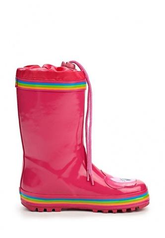 Резиновые сапоги Пони (My little Pony) утепленные на шнурках для девочек, цвет розовый. Изображение 2 из 7.