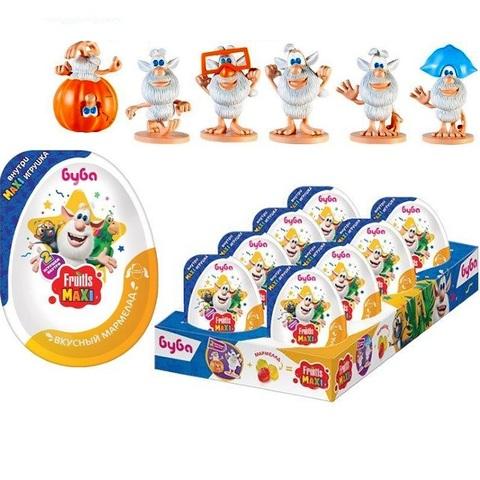 FRUITLS MAXI БУБА Мармелад в пластиковом яйце с игрушкой 1кор*6бл*8шт, 10г.