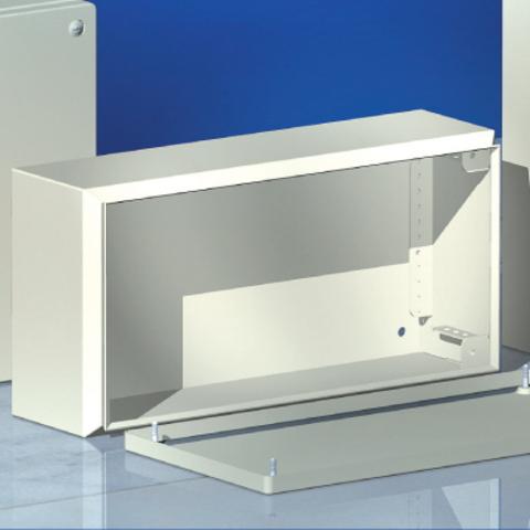 Сварной металлический корпус CDE, 800х400х120 мм, с фланцами, IP55