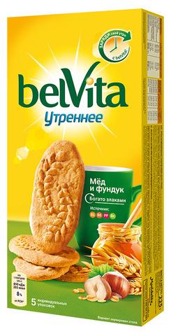 """Печенье """"belvita"""" Утреннее медовое с орехами 225 г"""