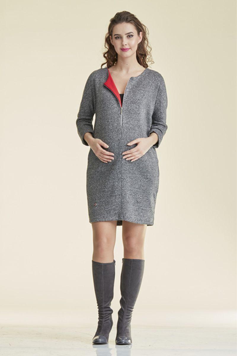 Фото платье-туника для беременных Mama i Ja от магазина СкороМама, серый, размеры.