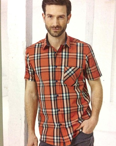 Рубашка мужская короткий рукав Watsons