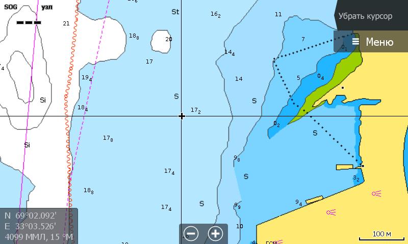 Navionics 5G874S Белое и Баренцево море Мурманск