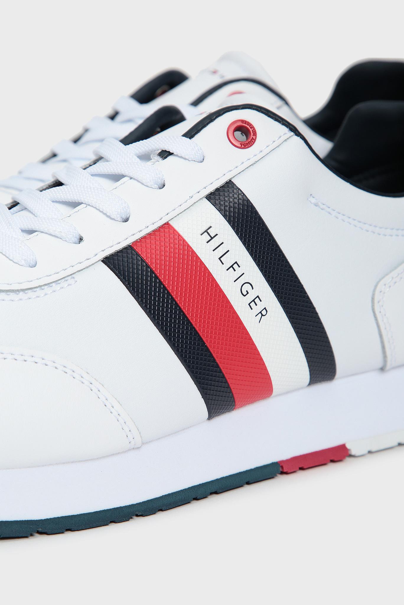 Мужские белые кроссовки CORPORATE LEATHER FLAG RUNNER Tommy Hilfiger