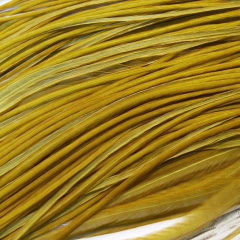 Перо из седла петуха Golden Olive (10 шт)