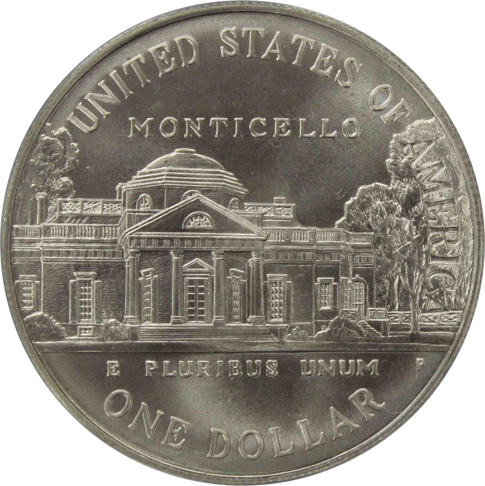1 доллар. 250-летие со дня рождения Томаса Джефферсона (P) 1993 г. UNC