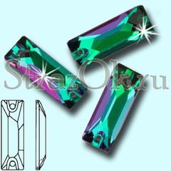 Купить пришивные стразы оптом Emerald Cosmic Baguette