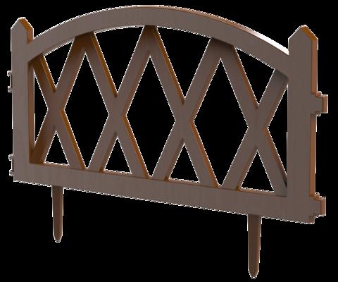Заборчик декоративный Штакетник L-300см (5 секций 60x37см)