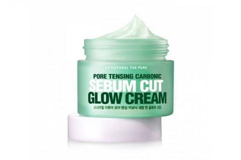 So Natural Pore Tensing Carbonic Sebum Cut Glow Cream увлажняющий крем для сужения пор