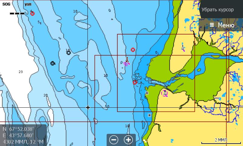 Navionics 5G874S Белое и Баренцево море