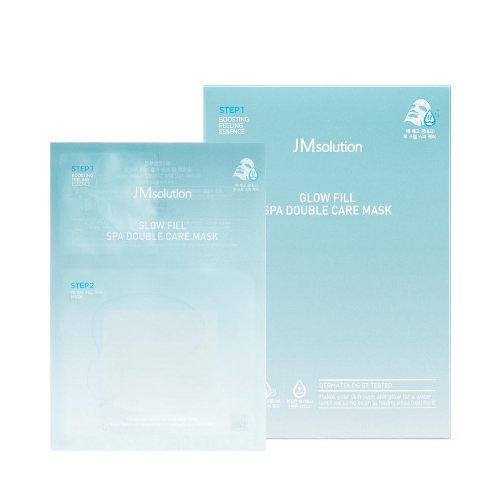 Набор масок двухэтапный СПА-уход для кожи лица с AHA/BHA/PHA-кислотами GLOW FILL SPA DOUBLE CARE MASK, 10 шт