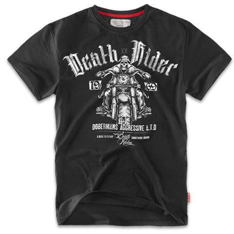 Футболка Dobermans Aggressive Death Rider, черная (TS57)