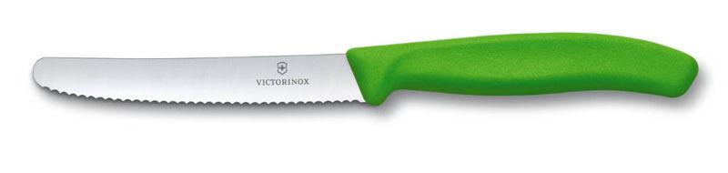 Нож Victorinox с волнистым лезвием, зелёный (6.7836.L114) - Wenger-Victorinox.Ru