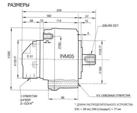 Гидромотор INM05-130