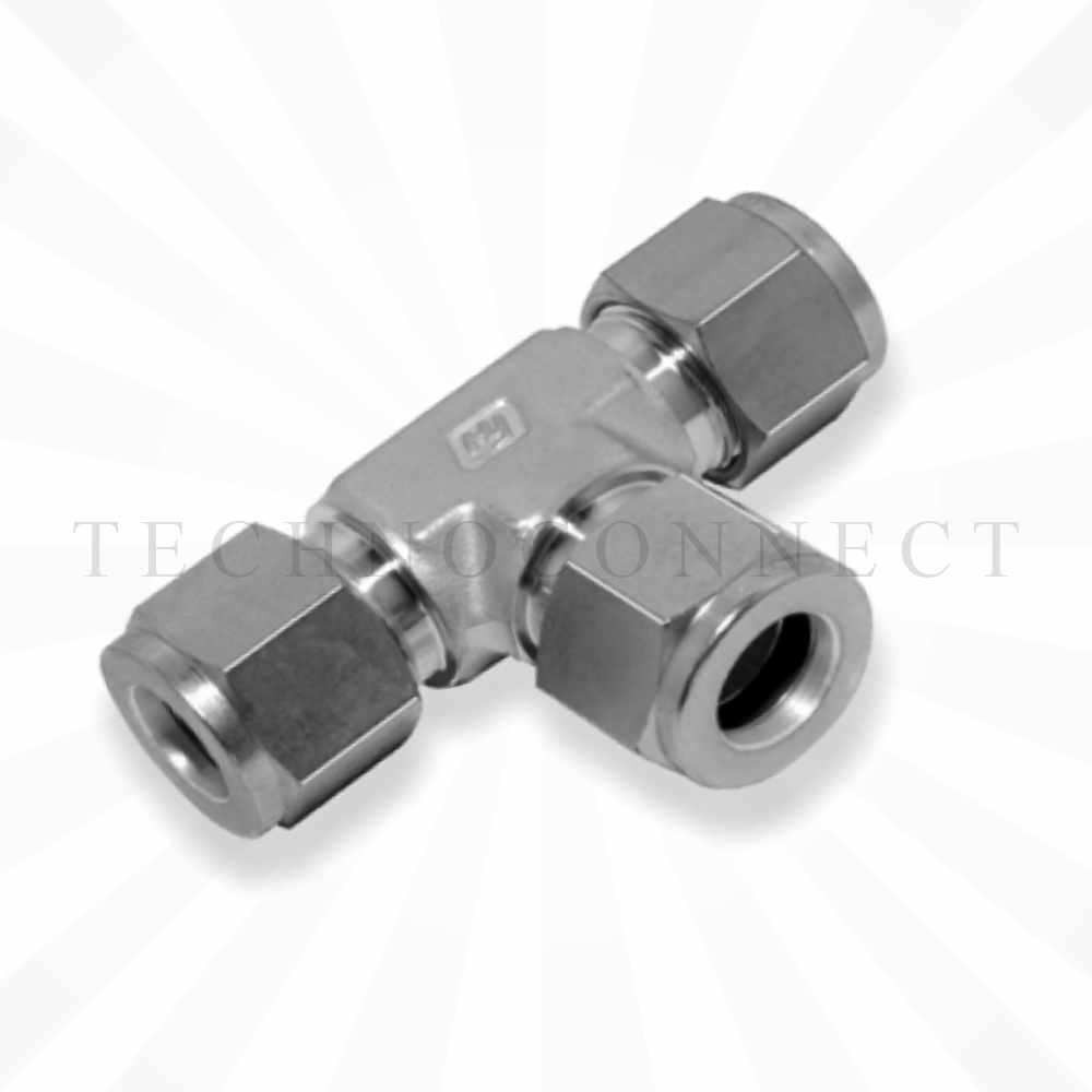 CTA-15M  Тройник равнопроходной: метрическая трубка 15 мм