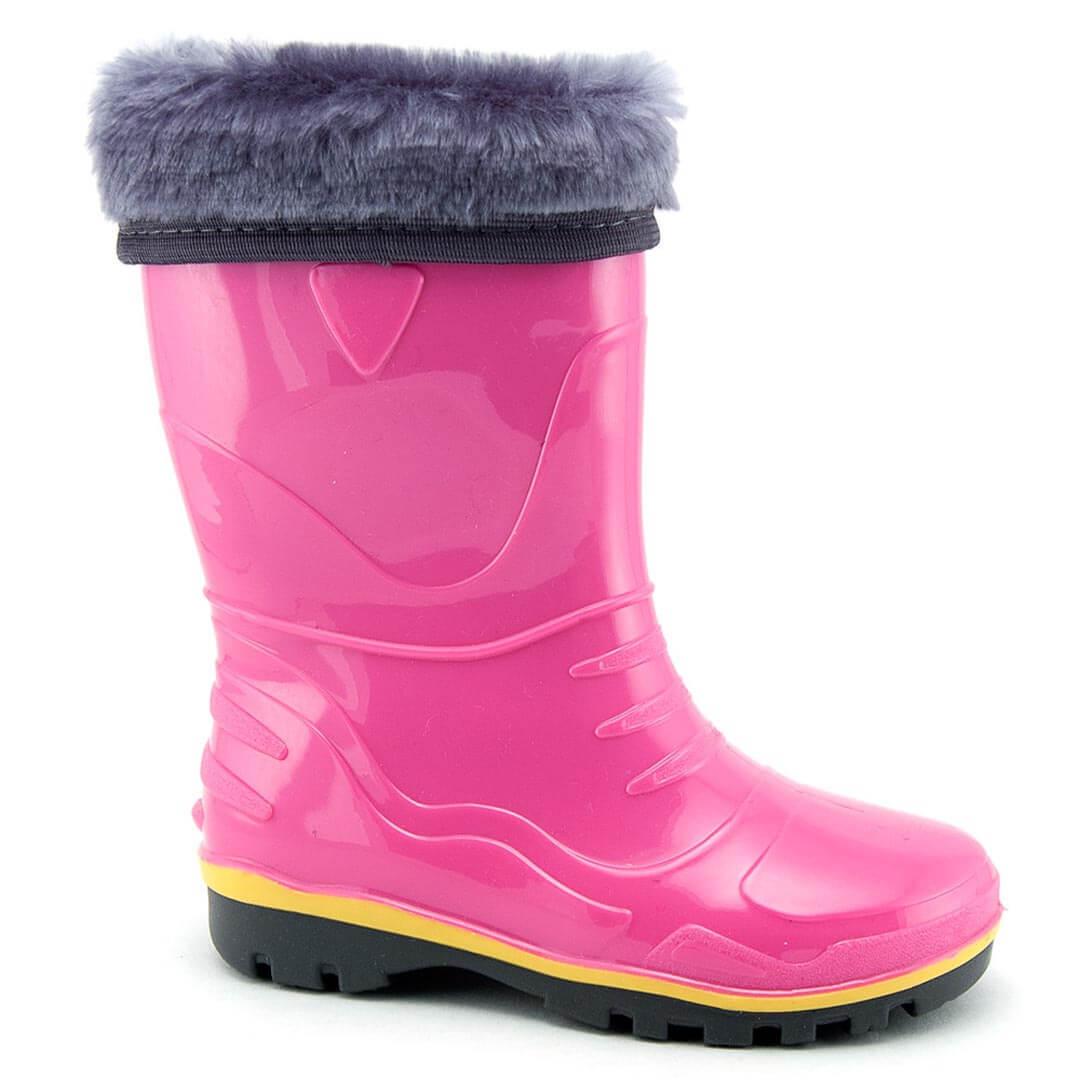 Детские утепленные резиновые сапоги Nordman Step розовые