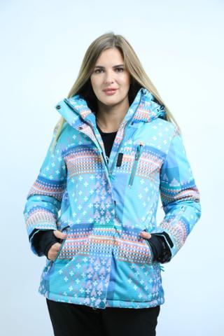 Куртка горнолыжная женская FREEFLY бирюзового цвета.