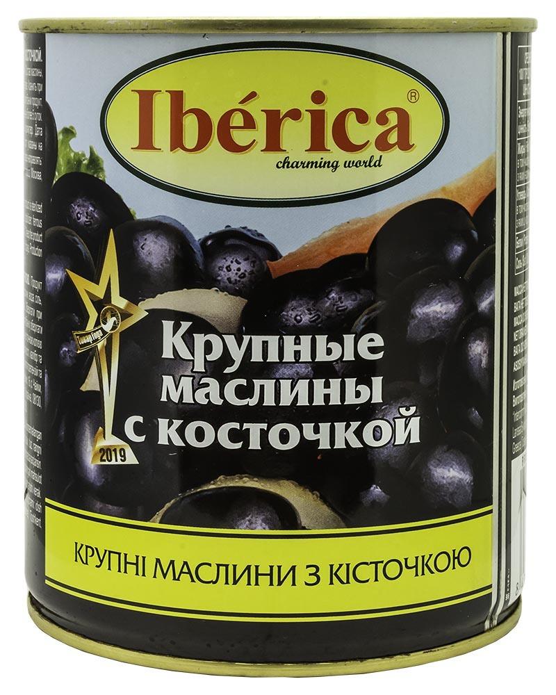 Маслины Iberica Гигантские с косточкой 850 гр