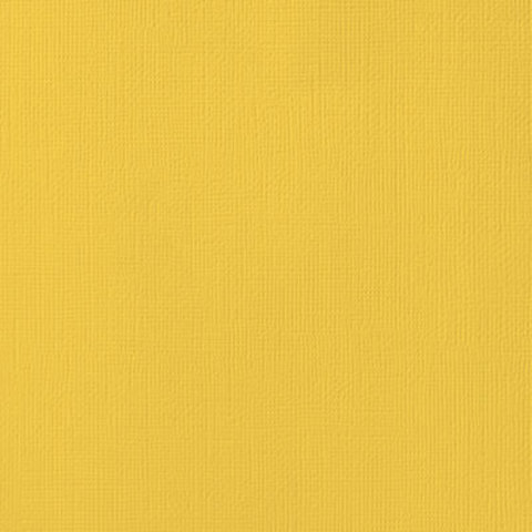 Текстурированный кардсток 30х30 American Crafts Textured Cardstock - Цвет Sunflower