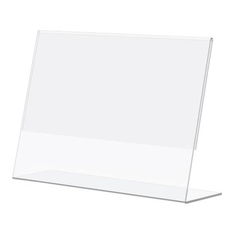Ценникодержатель настольный L-образный для ценника 40х30, ПЭТ, 100 шт./уп