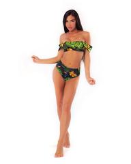 Спортивный топ Nebbia Miami retro bikini - top 553 Tr.green