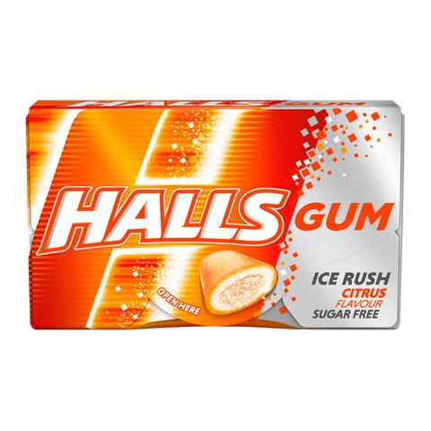 Жевательная резинка Halls Ice Rush Citrus со вкусом цитруса 18 гр