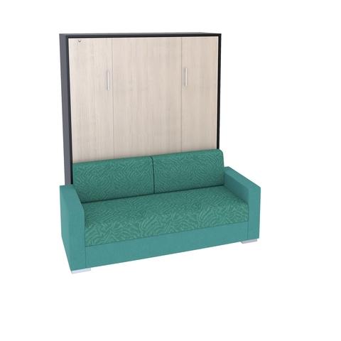 Шкаф-кровать вертикальная с диваном Эволюция