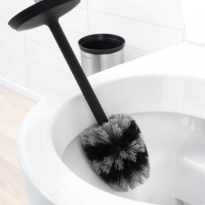 Туалетный ершик с подставкой Profile, Стальной матовый, арт. 427183 - фото 1