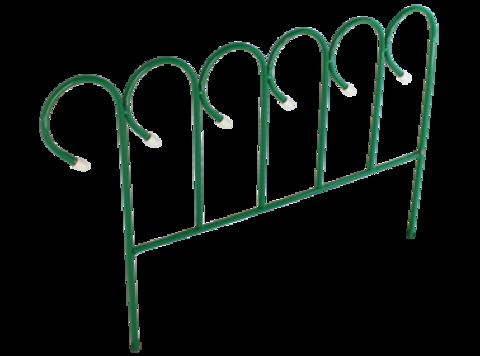 Забор декоративный металлический 3,8м (5секций)