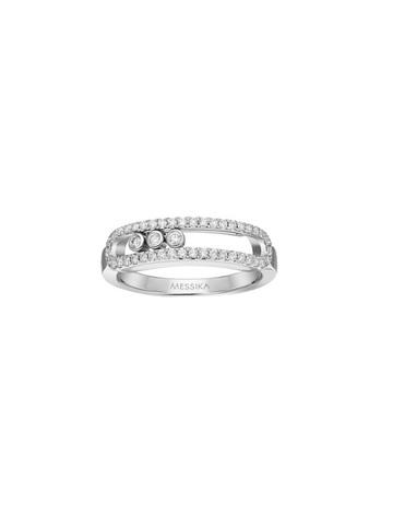20325- Кольцо Move из серебра с двигающимися  цирконами