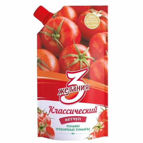 Кетчуп 3 ЖЕЛАНИЯ Классический 450 гр ДП КАЗАХСТАН